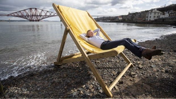 Scottish Liberal Democrat leader Willie Rennie on the Scottish Election campaign trail in South Queensferry. Picture date: Thursday March 25, 2021.