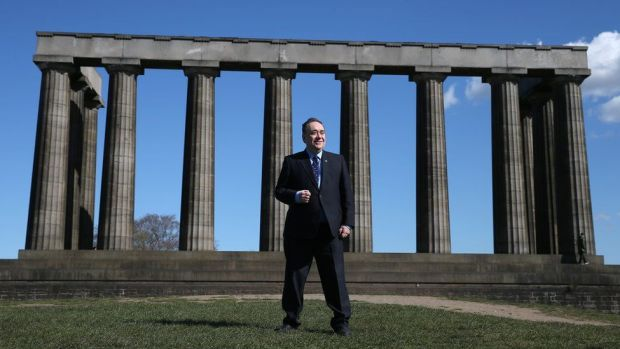 ALBA Party leader Alex Salmond at a photocall on Calton Hill, Edinburgh, marking the launch of the ALBA Lothian campaign for the Scottish Parliamentary election. Picture date: Monday April 12, 2021.