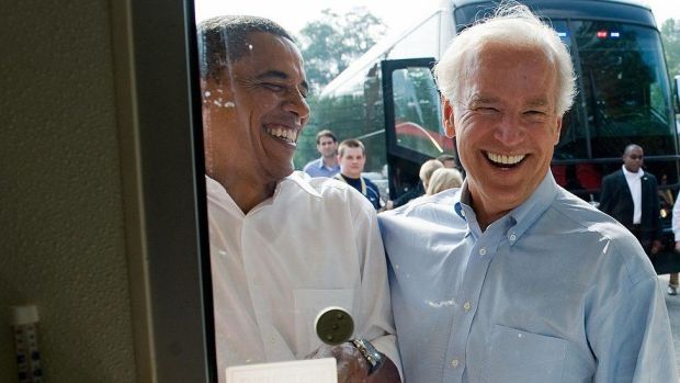 President Barack Obama and Vice-president Biden on the campaign trail