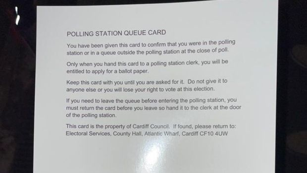 Voting card