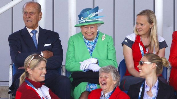 The Duke of Edinburgh and the Queen watched the England vs Wales women's hockey match during the Commonwealth Games in 2014 in Glasgow