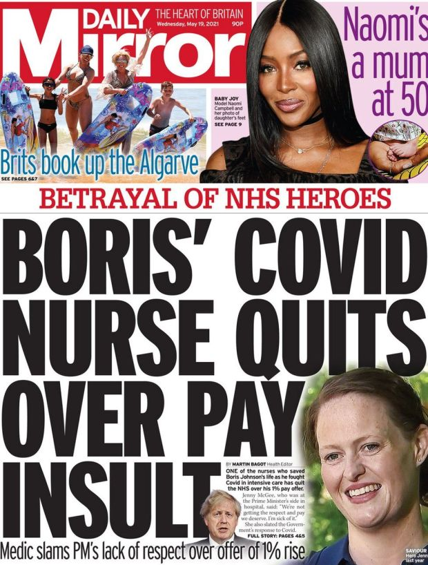 The Daily Mirror 19 May