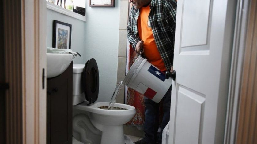 Man uses water from hot tub to flush toilet - 20 February