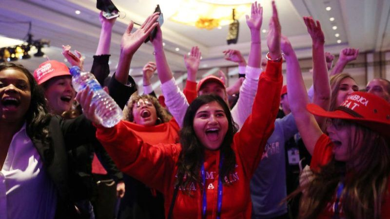 Cheering crowd at Cpac 2021