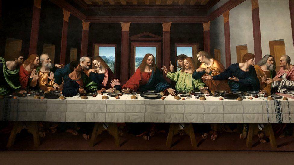 """""""Таємна вечеря"""" Леонардо да Вінчі, копія в Луврі"""