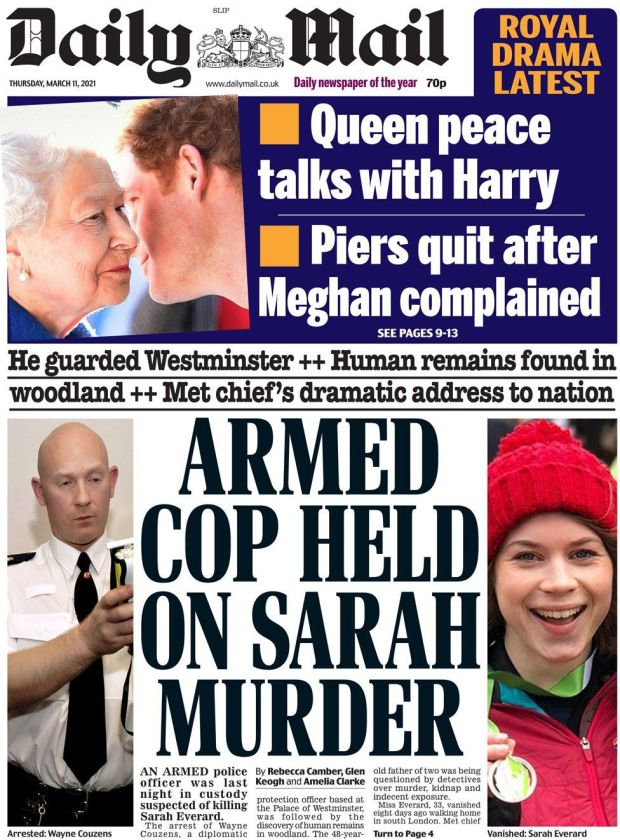 The Daily Mail 11 March