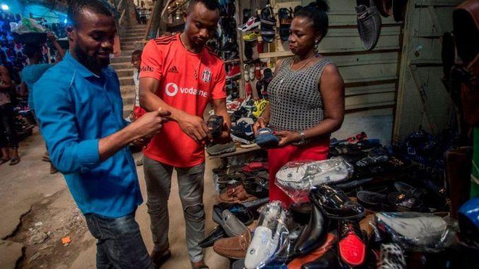 Traders at Aba market
