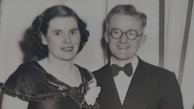 Anita Downey's parents in the 1950s