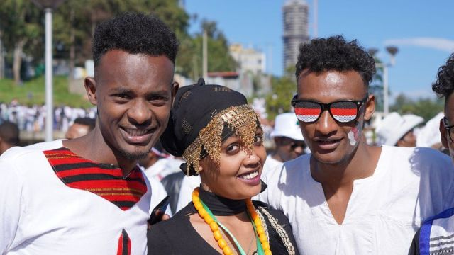Young people in traditional costume