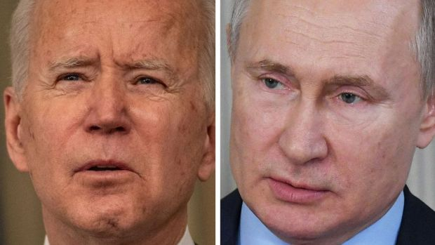 Joe Biden (left) and Vladimir Putin (composite image)