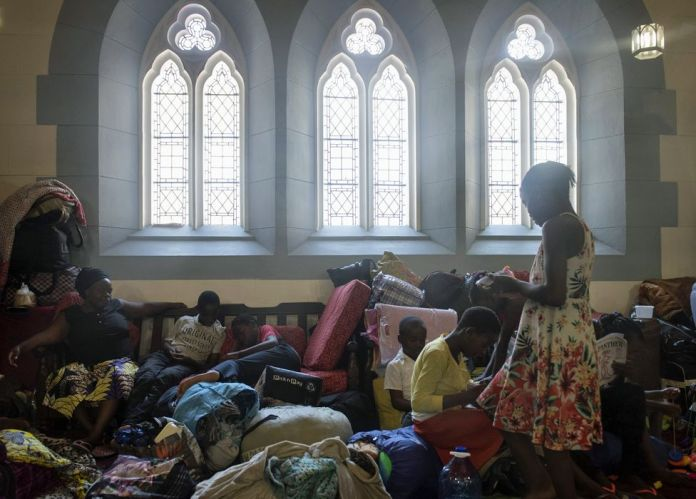 Foreign nationals seeking refugee inside the Methodist Church in Cape Town, South Africa - Friday 15 November 2019