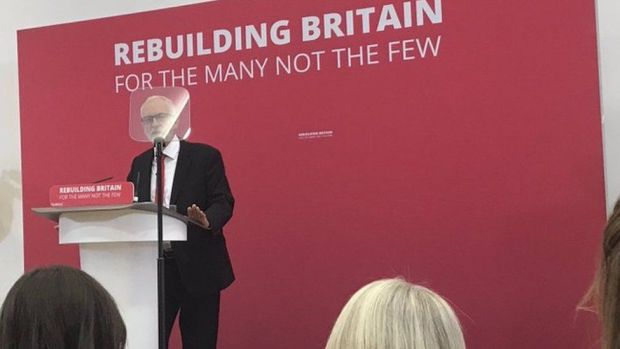 Jeremy Corbyn on the campaign trail in Corby