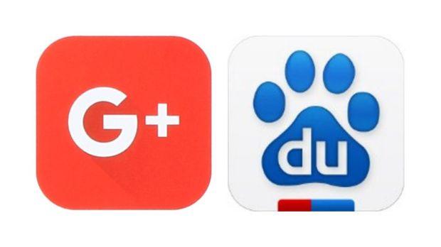 Google and Baidu logos