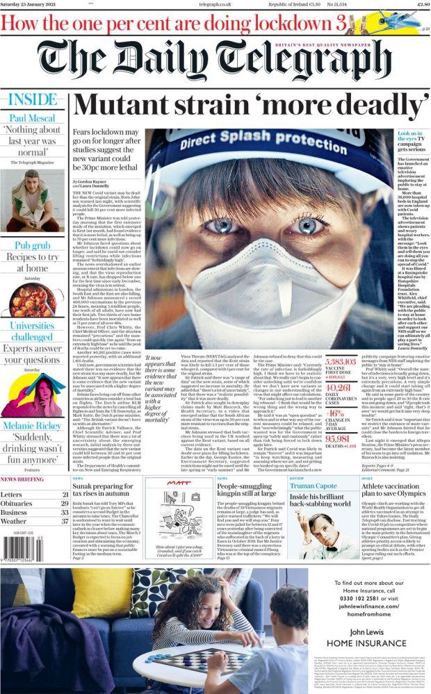 Daily Telegraph 23 Jan