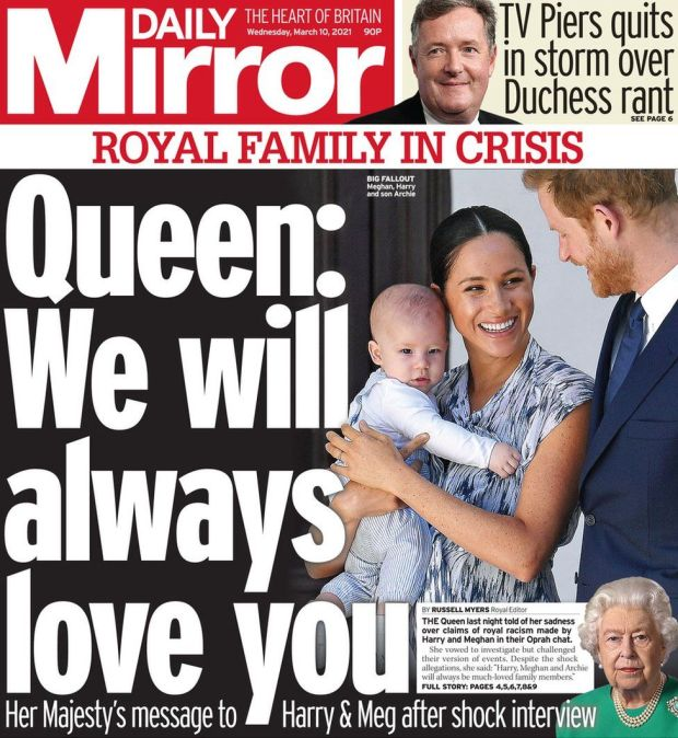 The Daily Mirror 10 March