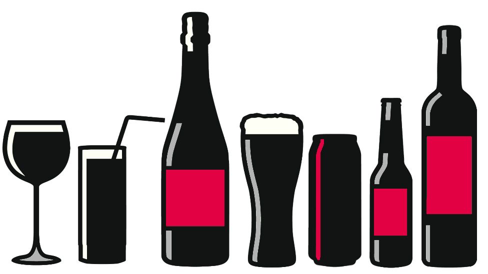 Illustration of alcoholic drinks