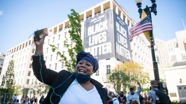 Celebrations in Black Lives Matter Square