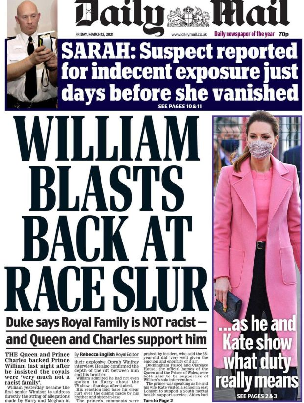 The Daily Mail 12 March
