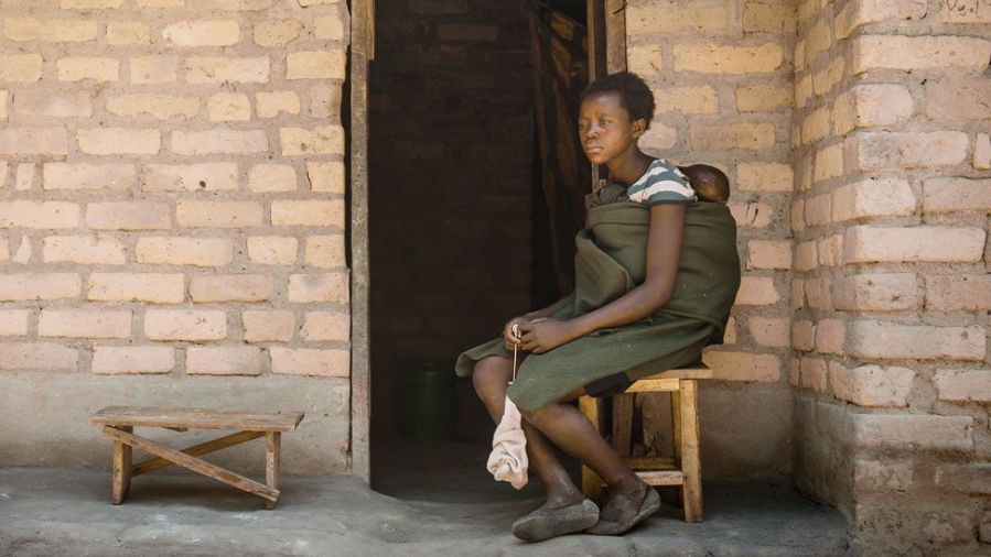 Jeune mère Zambie