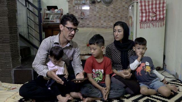 Mujtaba Qalandari and his family