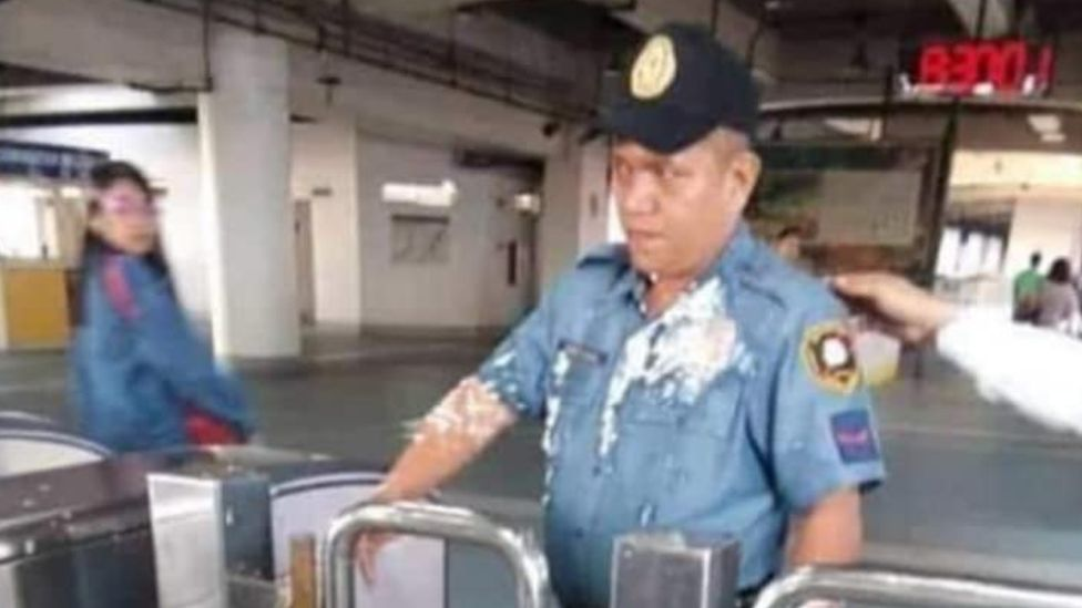 Image result for security guard chinese woman mrt