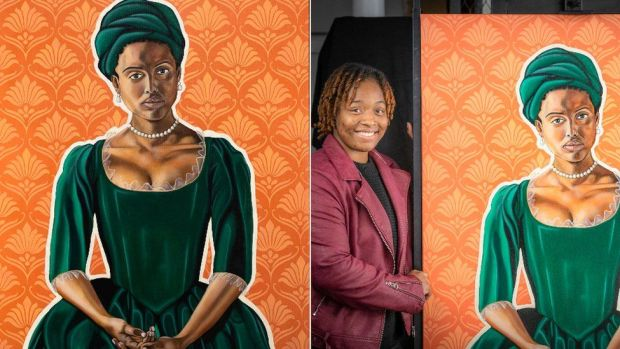 Dido Belle and artist Mikéla Henry-Lowe