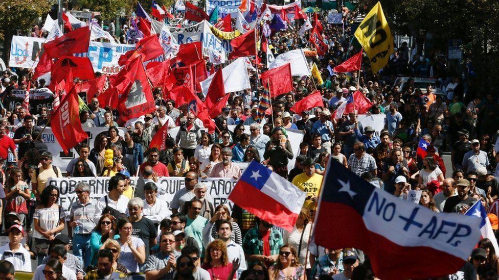 Marca contra las AFP en Valparaíso