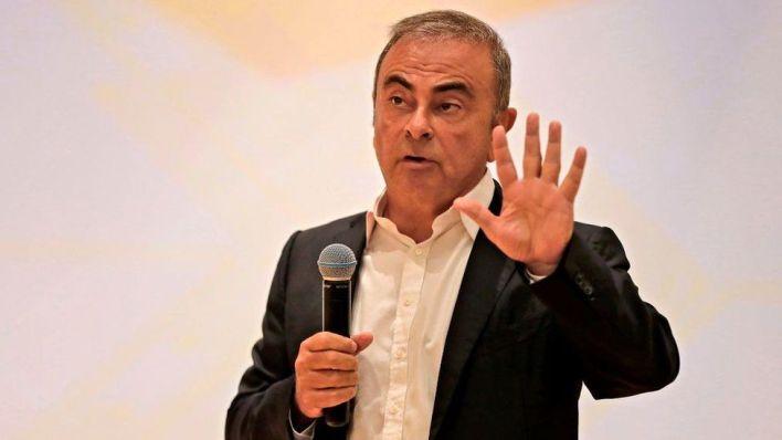 Carlos Ghosn peaking in Lebanon
