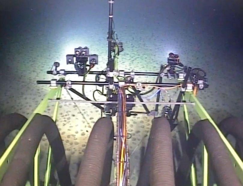Patania II on the sea floor