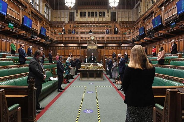 MPs stand in silence in the House of Commons