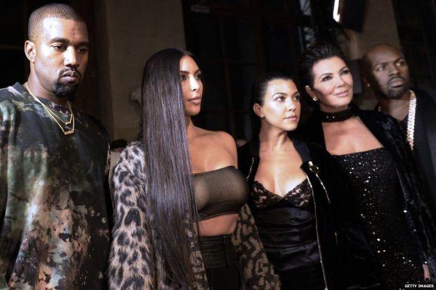 Kanye West, Kim Kardashian, Kourtney Kardashian, Kris Jenner and Corey Gamble