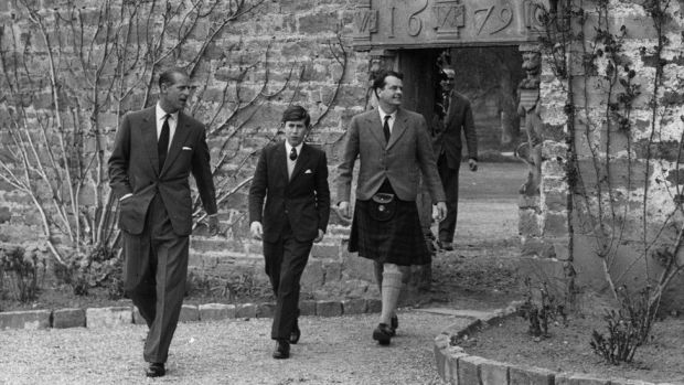 Prince Charles arrives at Gordonstoun