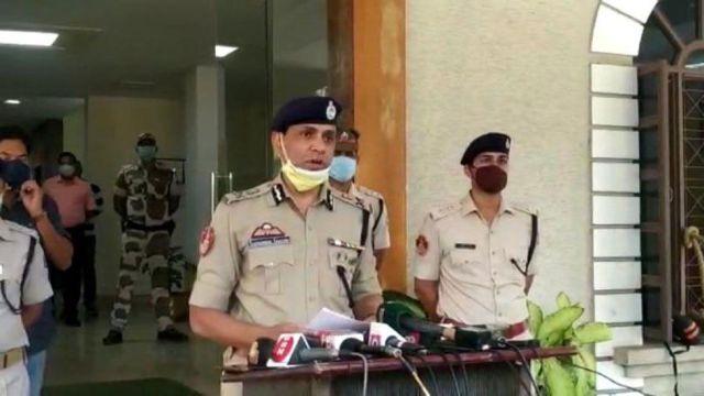 Police commissioner Sudhanshu Sarangi announces the arrest of Bibekananda Biswal