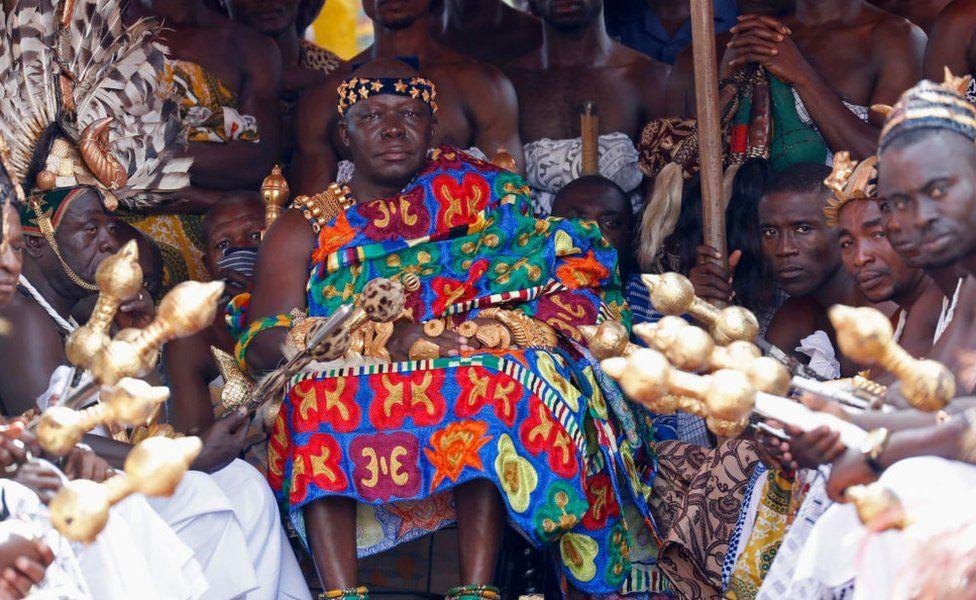 King Otumfuo Nana Osei Tutu II is seen at Durbar and Tea with the Asantehene at Manhiya Palace on November 4, 2018 in Kumasi, Ghana