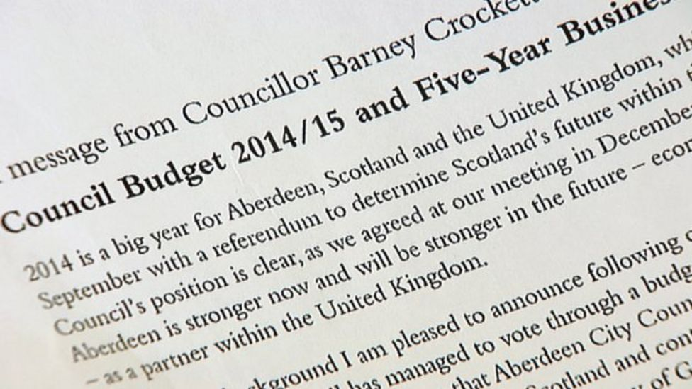 Council letter 'was not to influence independence voters