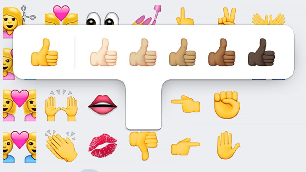 diverse thumbs up emojis