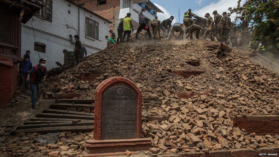 Basantapor after the quake