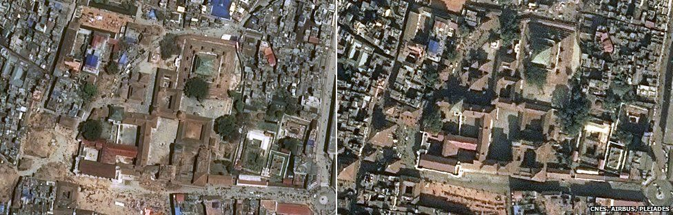 Durbar Square, Kathmandu before and after the quake