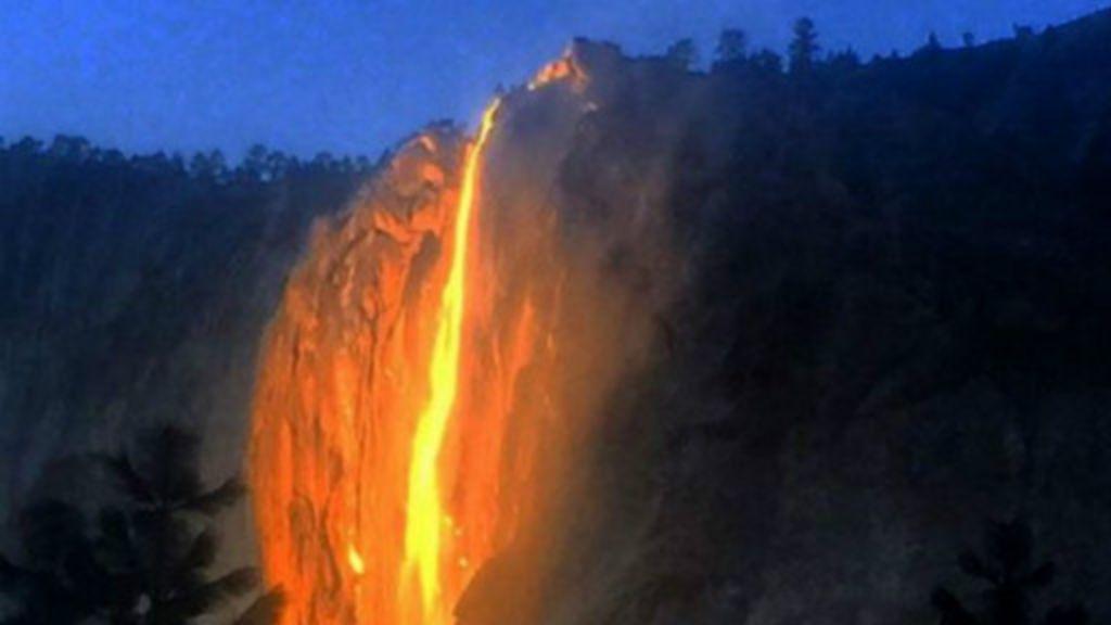 Yosemite Lava Falls Wallpaper 191 Qu 233 Es La Quot Cascada De Fuego Quot El Extra 241 O Fen 243 Meno Que