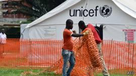 Centro de Unicef contra el ébola en Costa de Marfil