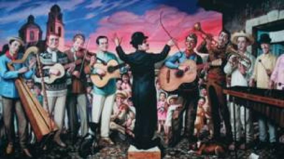 """Mural """"Los cómicos del siglo XX"""""""