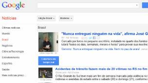 Captura de pantalla de Google Noticias