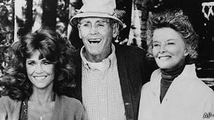Jane y Henry Fonda con Katharine Hepburn