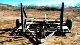 Catapulta usada para lanzar droga de México a Estados Unidos. Foto: Animal Político