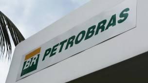 Cartel con el logo de Petrobras.