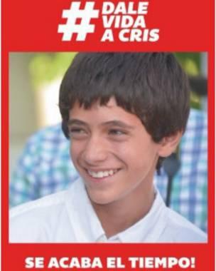 Lema de la campaña en redes sociales: Dale vida a Cris