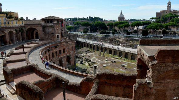 Mercado de Trajano en Roma