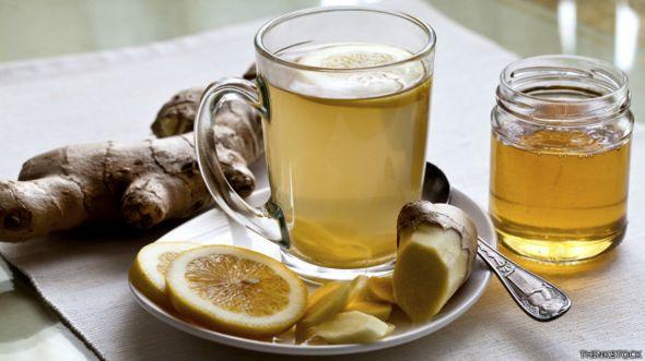 Té con limón y miel