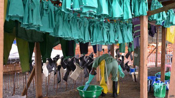 Guantes contra el ébola