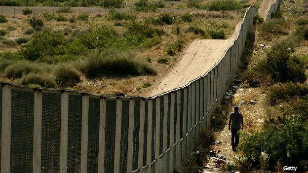 Frontera entre México y Estados Unidos en el estado de Chiihahua